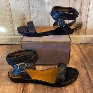 COCLICO Leather Ankle Strap Sandals